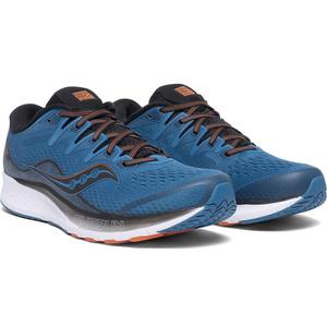 Herren Lauf Schuhe Saucony Ride Iso 2 Black / Blau, Saucony
