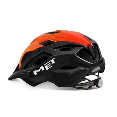 Helm MET Crossover schwarz/orange, Met
