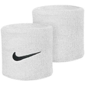 Schweißband Nike Swoosh Wristband white, Nike