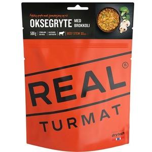Real Turmat Gedünstet rindfleisch mit Reis a brokkoli, 120 g, Real Turmat
