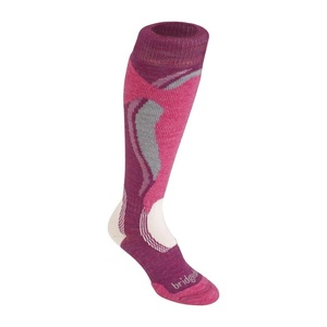Socken Bridgedale Control Fit Midweight Women´s 315 berry/pink, bridgedale