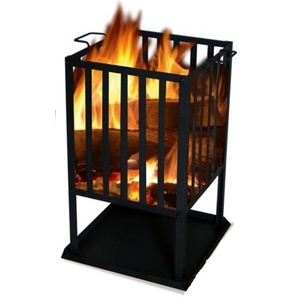 Quadratische  Feuerstelle SOL Korb 45x45 cm, Lucifer