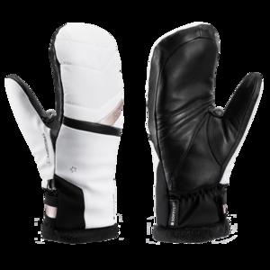 Ski Handschuhe LEKI Schneefuchs 3D Lady Mitt weiß / gold, Leki
