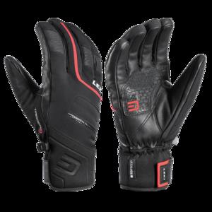 Ski Handschuhe LEKI Falcon 3D schwarz/rot, Leki
