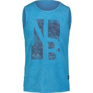 Herren baumwolle Tank Top/Shirt NORDBLANC Border NBSMT6818_AZR, Nordblanc