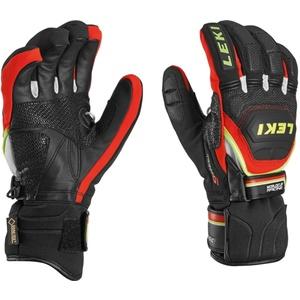 Handschuhe LEKI Worldcup Race Coach Flex S GTX black-red-white-yellow 634-80123, Leki