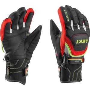 Handschuhe LEKI Worldcup Race Coach Flex S GTX Junior black-red-white-yellow 634-80121, Leki