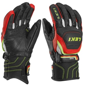 Handschuhe LEKI Worldcup Race Flex S Junior black-red-white-yellow 634-80031, Leki