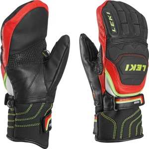 Handschuhe LEKI Worldcup Race Flex S Junior Mitten black-red-white-yellow 634-80051, Leki