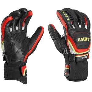 Handschuhe LEKI Worldcup Race Flex S Speed System black-red-white-yellow 634-80143, Leki