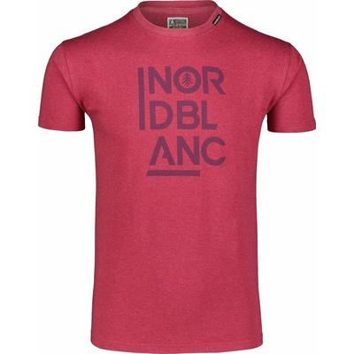 Hemd aus Baumwolle für Männer Nordblanc OBEDIENT wein NBSMT7258_HCA