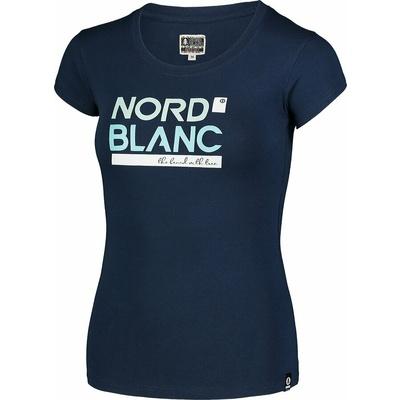 Damen-T-Shirt aus Baumwolle NORDBLANC Ynud Blau NBSLT7387_MOB, Nordblanc
