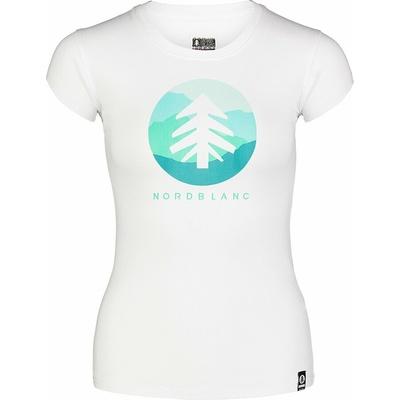 Damen-T-Shirt aus Baumwolle NORDBLANC Suntre Weiß NBSLT7388_BLA, Nordblanc