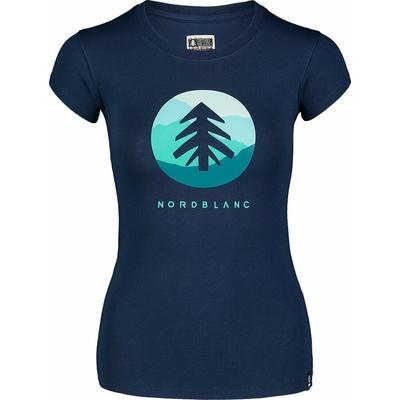 Damen-T-Shirt aus Baumwolle NORDBLANC Suntre Blau NBSLT7388_MOB, Nordblanc