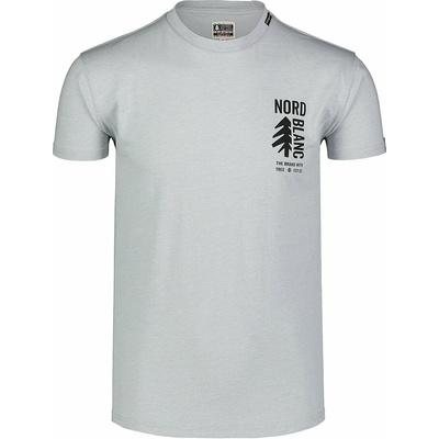 Hemd aus Baumwolle für Männer Nordblanc SARMY grau NBSMT7390_SSM