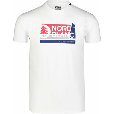 Hemd aus Baumwolle für Männer Nordblanc WAL LON Weiß NBSMT7391_BLA