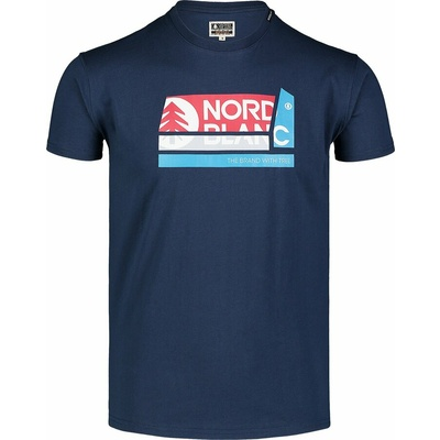 Hemd aus Baumwolle für Männer Nordblanc WAL LON Blau NBSMT7391_MOB, Nordblanc