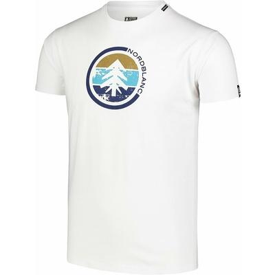 Hemd aus Baumwolle für Männer Nordblanc TRICOLOR Weiß NBSMT7397_BLA, Nordblanc