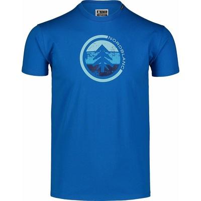Hemd aus Baumwolle für Männer Nordblanc TRICOLOR Blau NBSMT7397_INM, Nordblanc