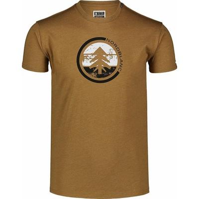 Hemd aus Baumwolle für Männer Nordblanc TRICOLOR braun NBSMT7397_PUH, Nordblanc