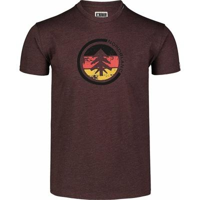 Hemd aus Baumwolle für Männer Nordblanc TRICOLOR braun NBSMT7397_RUH, Nordblanc