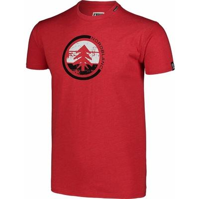Hemd aus Baumwolle für Männer Nordblanc TRICOLOR rot NBSMT7397_TCV, Nordblanc