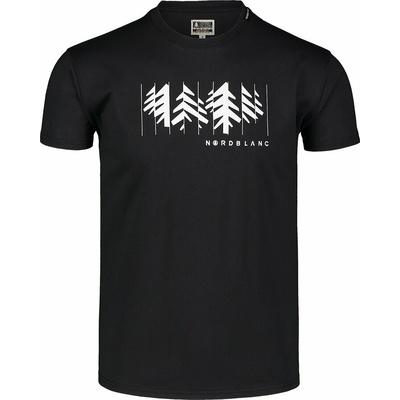 Hemd aus Baumwolle für Männer Nordblanc DEKONSTRUKTURIERT schwarz NBSMT7398_CRN, Nordblanc