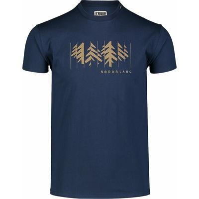 Hemd aus Baumwolle für Männer Nordblanc DEKONSTRUKTURIERT Blau NBSMT7398_MOB, Nordblanc