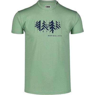 Hemd aus Baumwolle für Männer Nordblanc DEKONSTRUKTURIERT Grün NBSMT7398_PAZ, Nordblanc