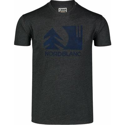 Hemd aus Baumwolle für Männer Nordblanc TREETOP schwarz NBSMT7399_CEM, Nordblanc