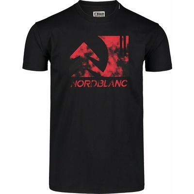 Hemd aus Baumwolle für Männer Nordblanc TREETOP schwarz NBSMT7399_CRN, Nordblanc