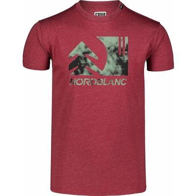 Hemd aus Baumwolle für Männer Nordblanc TREETOP wein NBSMT7399_HCA, Nordblanc