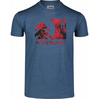 Hemd aus Baumwolle für Männer Nordblanc TREETOP Blau NBSMT7399_SRM, Nordblanc