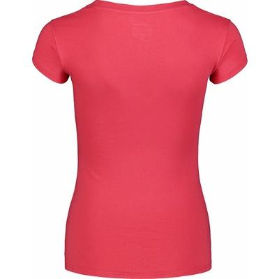 Damen-T-Shirt aus Baumwolle NORDBLANC Kalligraphie Rosa NBSLT7400_RUP, Nordblanc