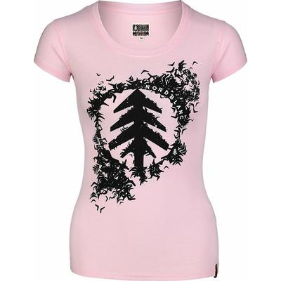 Damen-T-Shirt aus Baumwolle NORDBLANC Flocke Rosa NBSLT7401_RUT, Nordblanc