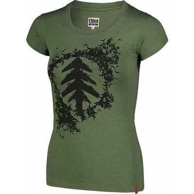 Damen-T-Shirt aus Baumwolle NORDBLANC Flocke Grün NBSLT7401_ZSA, Nordblanc