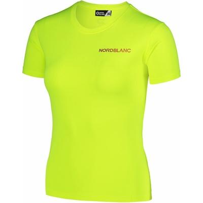 Frauen funktional t-shirt Nordblanc Ausbildung Gelb NBSLF7450_BPZ, Nordblanc