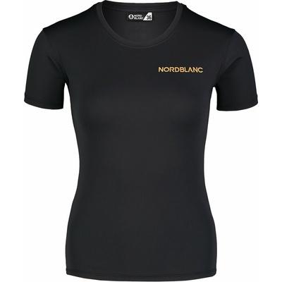 Frauen funktional t-shirt Nordblanc Ausbildung Schwarz NBSLF7450_CRN, Nordblanc