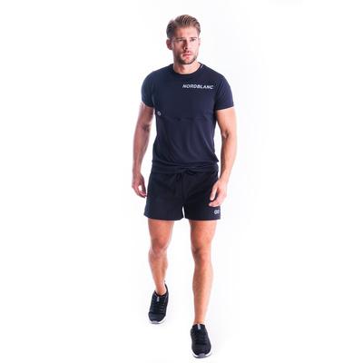 Fitness-T-Shirt für Herren Nordblanc Größer werden schwarz NBSMF7460_CRN, Nordblanc