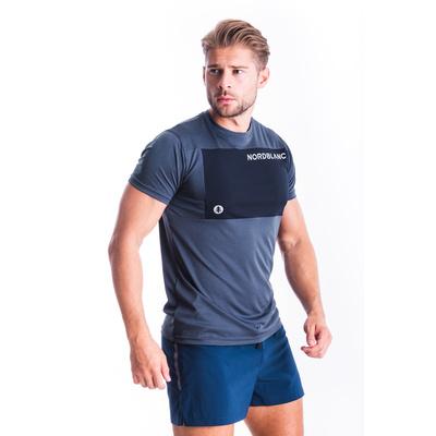 Männer fitness t-shirt Nordblanc Größer werden blau NBSMF7460_SRM, Nordblanc