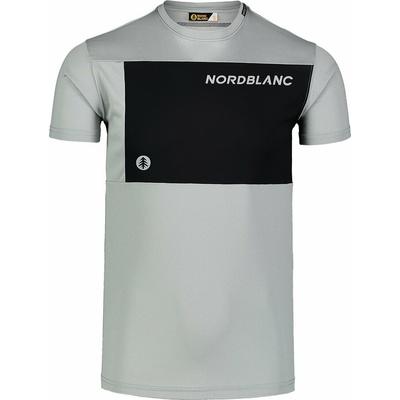 Männer fitness t-shirt Nordblanc Größer werden grau NBSMF7460_SSM, Nordblanc