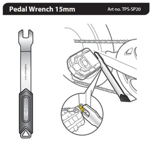 Key Topeak Pedal Wrench 15mm TPS-SP20, Topeak