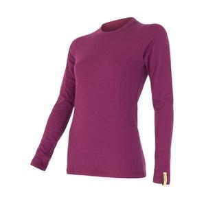 Damen T-Shirt Sensor MERINO DOUBLE FACE lilla 15100030, Sensor