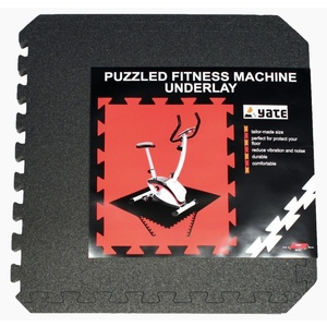 Unterlage Yate FITNESS PUZZLE MAT 55X55X0,8 CM, SET 4 KS, black, Yate