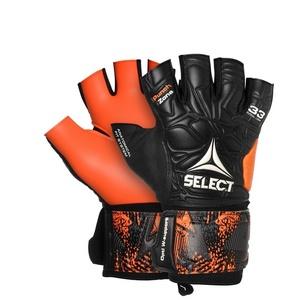 Torwart Handschuhe Select GK handschuhe Futsal Liga 33 Negative Cut schwarz Orange