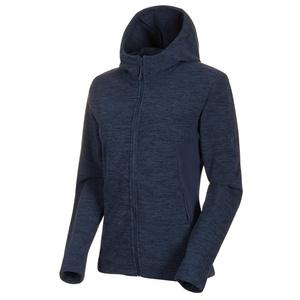 Damen Sweatshirt Mammut Yadkin ML Hooded Jacket Women peacoat Melange, Mammut