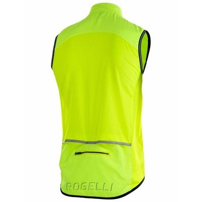 Radsport Weste Rogelli MOVE mit atmungsaktiv zurück, reflexion yellow 004.202, Rogelli