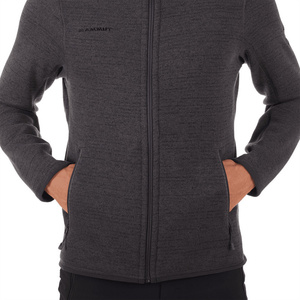 Herren Sweatshirt Mammut Arctic ML Jacket Men phantom black Melange 00162, Mammut