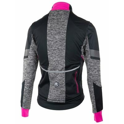Damen Softshell Radjacke Rogelli GLÜCKSELIGKEIT mit atmungsaktiv zurück teil, schwarz und grau-reflektierend pink 010.310, Rogelli