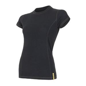 Damen T-Shirt Sensor MERINO DOUBLE FACE black 15100017, Sensor